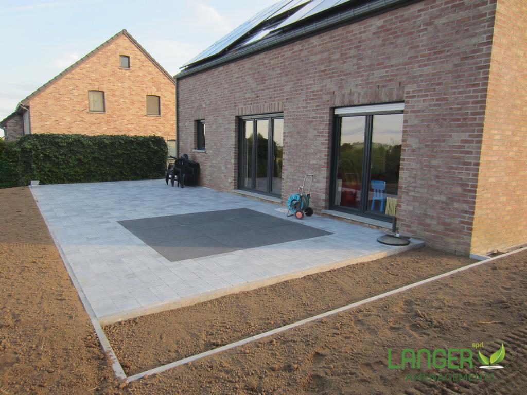 terrasse en pierre bleue belge langer am nagement sprl. Black Bedroom Furniture Sets. Home Design Ideas